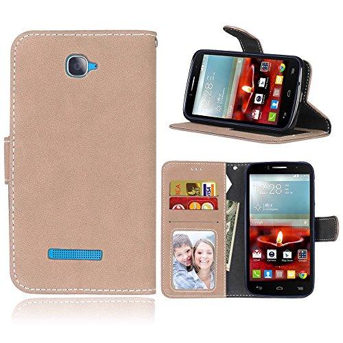 Alcatel One Touch Pop C7 Hülle, Cozy hut TPU Silikon Hybrid Handy Hülle Matte Series Case Durchsichtig Stoßfest Tasche Schutz Scratch-Resistant protection Case Tasche Schutzhülle Cover Handyhülle Etui Beige bereift