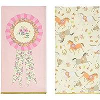 Talking Tables Servilleta con colores pastel y diseños de pony en 2 patrones diferentes. Rosa. Papel.