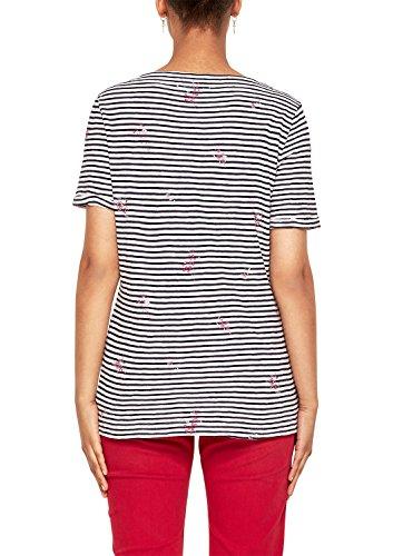 s.Oliver Damen T-Shirt Blau (Navy Placed Print 59d2)