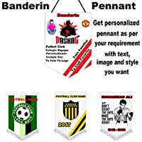 Sports Pennant/Benderine customized with your sports/clubs/school/Birthdays/Functions/Fiestas