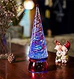 HAPPYMOOD Weihnachten Baum Lampe Zeichenfolge Licht 7 Bunt Modi Rotativ Zum Schreibtisch Tabelle Dekoration Auf Valentinstag Weihnachten Tag