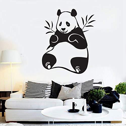 Panda Bambus Vinyl Wandtattoo Wohnkultur Wohnzimmer Schlafzimmer Kunst Wand entfernbare Wandaufkleber 43x52cm