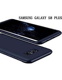 Samsung Galaxy S8 PLUS Coque 360 Protection PC 3 en 1 Full Cover Adamark Housse Integrale Bumper Etui Case Accessoires Ultra Fin Et Discret Pour Samsung Galaxy S8 PLUS (Sans protecteur de film en verre trempé) (Bleu)