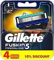 Gillette Fusion ProGlide men's razor blade refills, 4 c