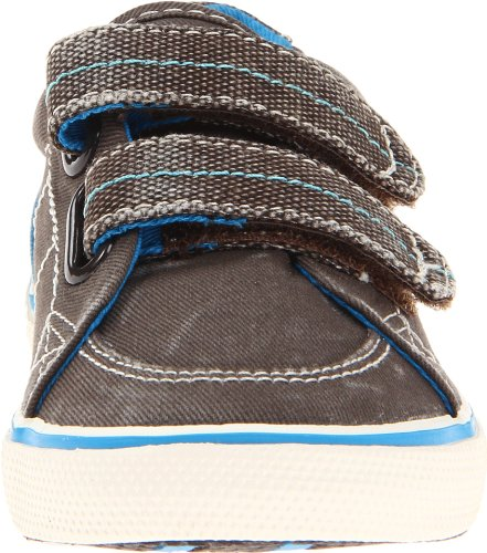 Sperry Kids  Halyard H&L Canvas, basket enfant mixte Marron - Braun (brown/royal)