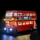 Kit Luce Led per Lego London Bus 10258 Accessori di Illuminazione a Led Parti di Ricambio del Blocco Predefinito