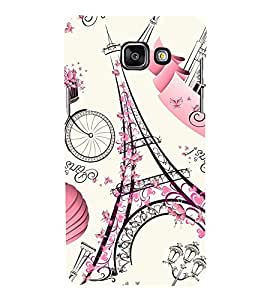 Eiffel tower Back Case Cover for Samsung Galaxy A7(2016)