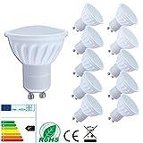 Lampaous 10er Pack GU10 led 5w Lampe Leuchtmittel led gu10 Spot Keramik 500lm neutralweiss 230V AC
