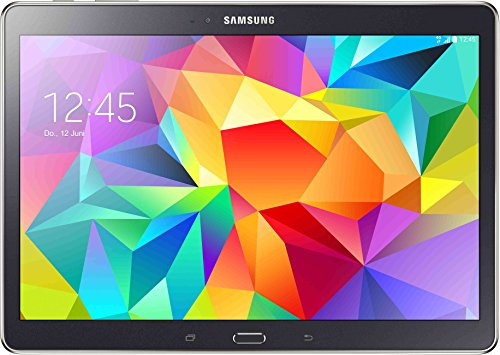 Samsung Galaxy Tab S T805 LTE 26,6 cm (10,5 Zoll) Tablet-PC (5GHz, 16GB interner Speicher, Bluetooth 4.0, USB 2.0, CMOS 8 MP) dunkel grau