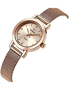 WWOOR Neu Damen-Uhren Quarzuhr Damenuhren Retro Maschendrahtband WR0011meiguijin