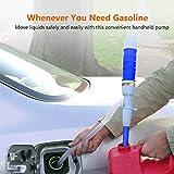 SISHUINIANHUA Elettrico Combustibile Automatico della Pompa ad Acqua Liquido Sifone Pompa a Pile di Acqua a Gas Bagno Stagno Pompa Manuale,Blu