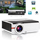 CAIWEI 5000 Lumens Home Entertainment Projector Full HD 1080P Support LED LCD Home Cinema Movie Gaming TV Projectors with HDMI USB VGA AV Audio Out for Apple Iphone Ipad Macbook Android Windows Smartphone Laptop Tablet PC PS3 PS4 XBOX DVD