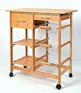 Carrello per servire scaffale da cucina bamb - Scaffale per cucina ...