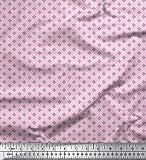 Soimoi Rosa Viskose Chiffon Stoff geometrische Stern