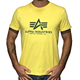 Alpha Industries T-Shirt Basic (S, Prime Yellow)
