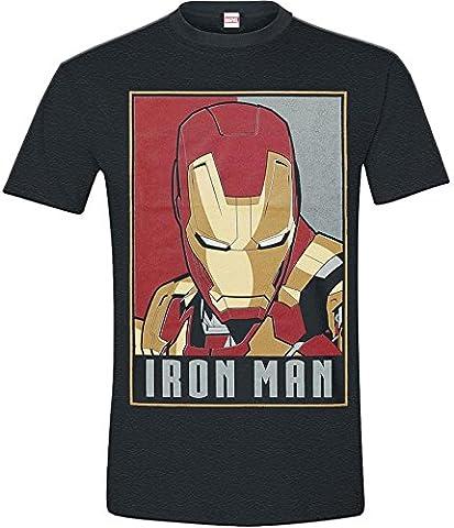 Marvel Herren T-Shirt, mit Print Gr. XX-Large, schwarz