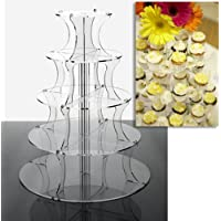 5 Tier Round Clear Acrylic Party Cupcake Cake Stand for Parties and Celebrations from Wedding Acrylics