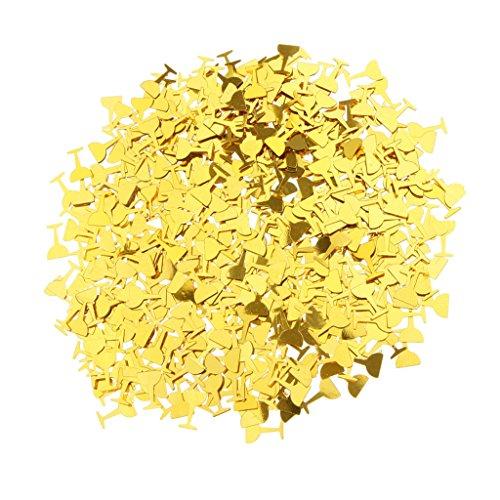 MagiDeal Metallische Konfetti Streudeko Tisch Konfetti Hochzeit Geburtstag Abschluss Party Dekor - Gold Wein Gläser, 0,9 x 0,9 cm