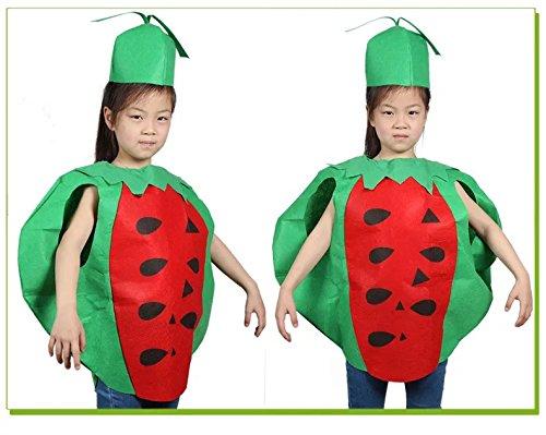 Kostüme Wassermelone Kind (Kinder Früchte Gemüse & Natur Kostüme Fancy Dress Jungen und Mädchen)