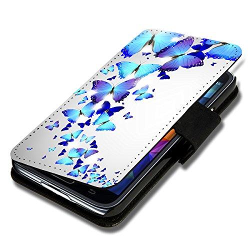 Book Style Flip Handy Tasche Case Schutz Hülle Schale Motiv Etui für HTC One Mini 2 - Flip 1X9 Design10