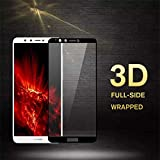 PmseK Protector de Pantalla,Vidrio Templado,Tempered Glass For Y9 Y6 Y7 Prime New 3D Cristal Templado For Honor 7C 7A Pro P Smart New P20 Pro Lite for Y7 Prime 2018 White