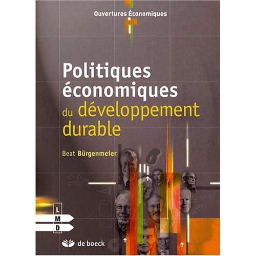 Politiques économiques du développement durable