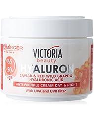 Victoria Beauty - Crème Visage Jour et Nuit - Anti-Rides à base de Hyaluron, Caviar et Rainsin Rouge - Age 50 à 65+ - 50ml
