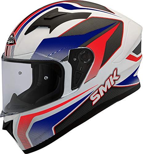 SMK Helmets Men's GL153 Dynomo Graphics Pinlock Fitted Full Face Helmet with Clear Visor (Large)
