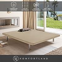 Komfortland Base tapizada 3D One Medida 150x190 cm Patas 25 cm - Normales Color Beis