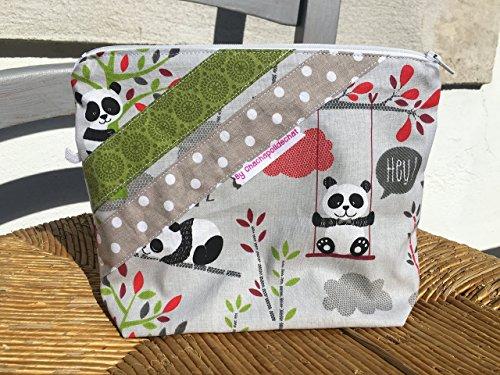 Trousse de toilette bébé , trousses à accessoires, pochette tissu éléphants , sac à langer cadeaux de noël , cadeaux personnalisés , cadeau enfant * Sur commande - Tissus aux choix ***