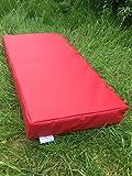 Suave Play colchoneta de aterrizaje para gimnasia–610gsm PVC/espuma de alta densidad–rojo 100cm x 50cm x 10cm