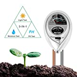 BIFY Bodentester,Boden Feuchtigkeit Meter,3 in 1 Bodentester für Feuchtigkeit/Sonnenlicht/pH-Tester für...