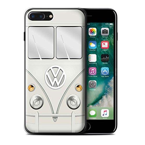 Stuff4 Hülle / Case für Apple iPhone 7 Plus / Mango Grün Muster / Retro T1 Wohnmobil Bus Kollektion Perlweiss