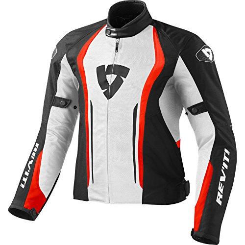 giacca moto rev'it airforce bianco rosso xxl
