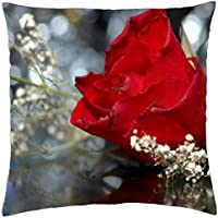 Wedding Red Rose - Throw Pillow Cover Case (18
