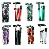 Floral Comfortable & Light Weight Adjustable folding Walking Stick