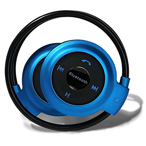 CASVO Compatible Videocon Dost V1534+ Mini-503 Bluetooth Stereo Headphone Headset Music Earphones Compatible for all Mobile Phone, Support TF/SD Card Upto 16GB Headset with Mic (Blue, On the Ear)  available at amazon for Rs.799