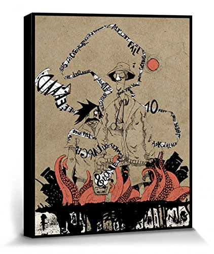 1art1 109049 Streetart - Fear and Loathing, Marcus Merget Poster Leinwandbild Auf Keilrahmen 40 x 30 cm