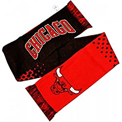 Chicago Bulls Official NBA - Bufanda oficial de Chicago Bulls Official NBA (Talla Única/Rojo/Negro)