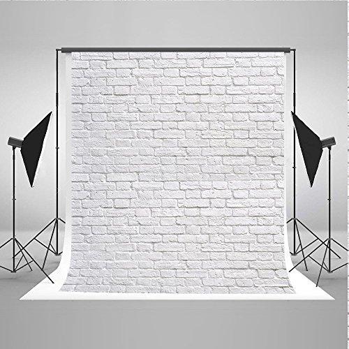 WaW 1.5x2.2m Weiß Ziegel Hintergrund Fotografie Studio Fotohintergründe Kulisse Vintage Mauer