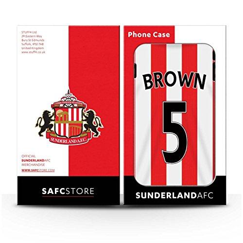 Offiziell Sunderland AFC Hülle / Glanz Snap-On Case für Apple iPhone 6S+/Plus / Pack 24pcs Muster / SAFC Trikot Home 15/16 Kollektion Brown