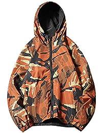 : veste de camouflage Orange Homme : Vêtements