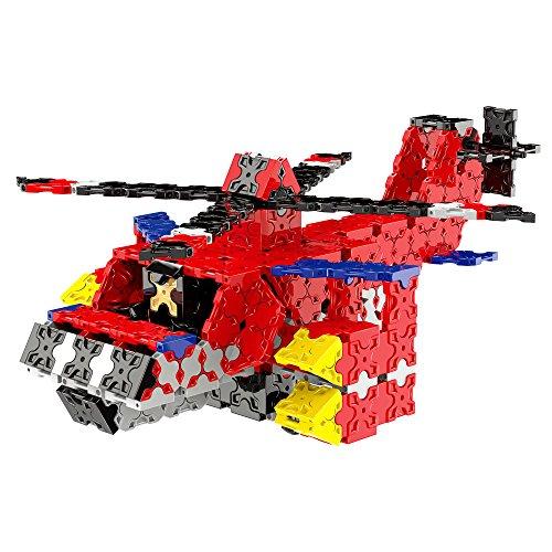 WEofferwhatYOUwant Hubschrauber 3D Puzzle Bausatz für Kinder im Alter von 6-12 Jahren - FLATBLOCKS 591 Teile (DIY)
