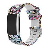 Magiyard Fitbit Charge 2 Bracelet de rechange souple en silicone ajustable, pour le sport Multicolore E