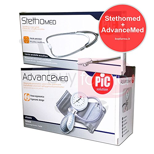 PIC SOLUTION - OFFERTA ADVANCEMED + STETHOMED - Misuratore di Pressione Manuale + Stetoscopio