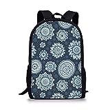 Prinbag, Rucksack mit Blumenmuster wasserdichte, stilvolle Schultasche für Jungen und Mädchen Trend Casual Reduzierter Rucksack - 2