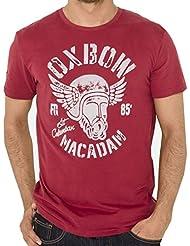 Tee Shirt MC Col Rond Sargo Grenat - Oxbow