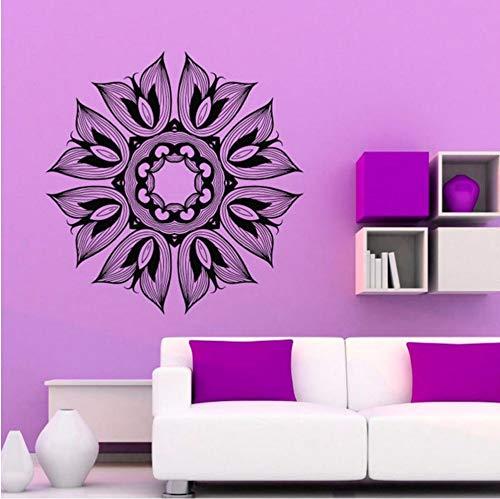 LTTGG Mandala Blume Wandtattoo Indien Design Vinyl Kunst Wandaufkleber 59x60cm