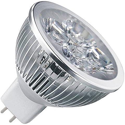 12Vmonster Ac Dc 12V24V 4W 4x 1W Grappolo Lampadina LED bianco freddo MR16GU5.3Bi Pin Lampada
