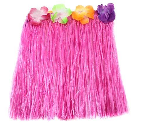 Hawaiianisches Hula-Baströckchen, Faschingskostüm, Verkleidungszubehör, farbig, 40 cm kurzer Hula-Rock, Luau-Festbekleidung, in 10 Farben erhältlich